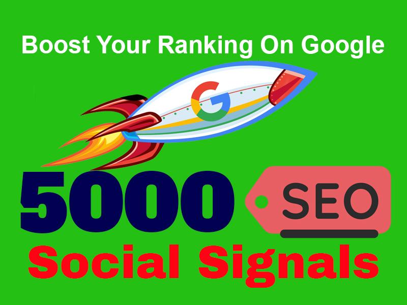Real 5000 Website Mixed Permanent SEO Social Signals