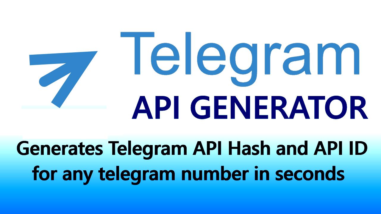 TELEGRAM API Hash & API ID Generator Bot for any Telegram number