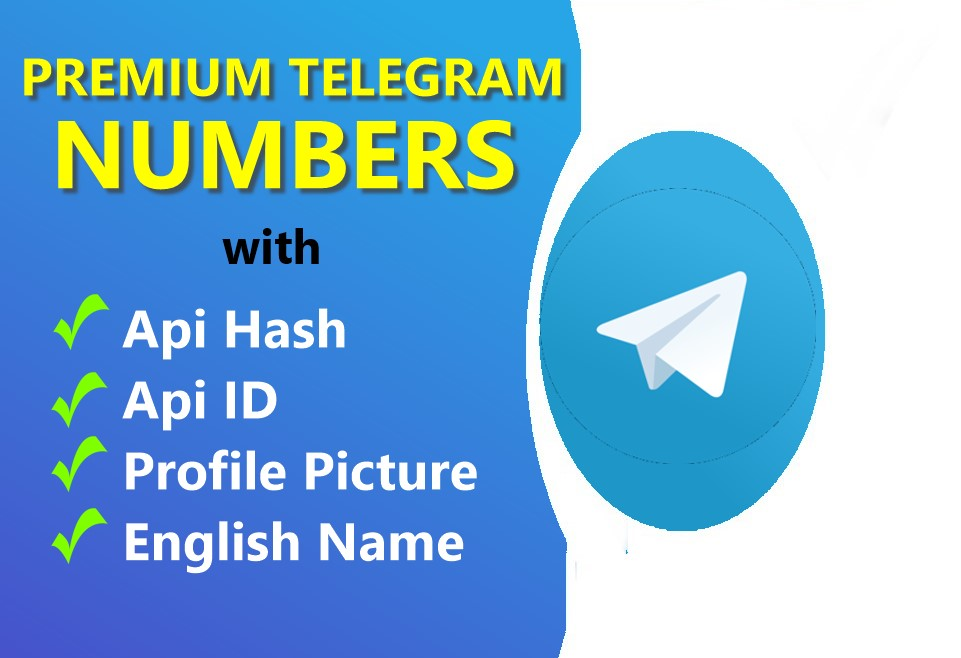Get 10 Telegram Numbers with API hash & Ids - Spam Free Numbers