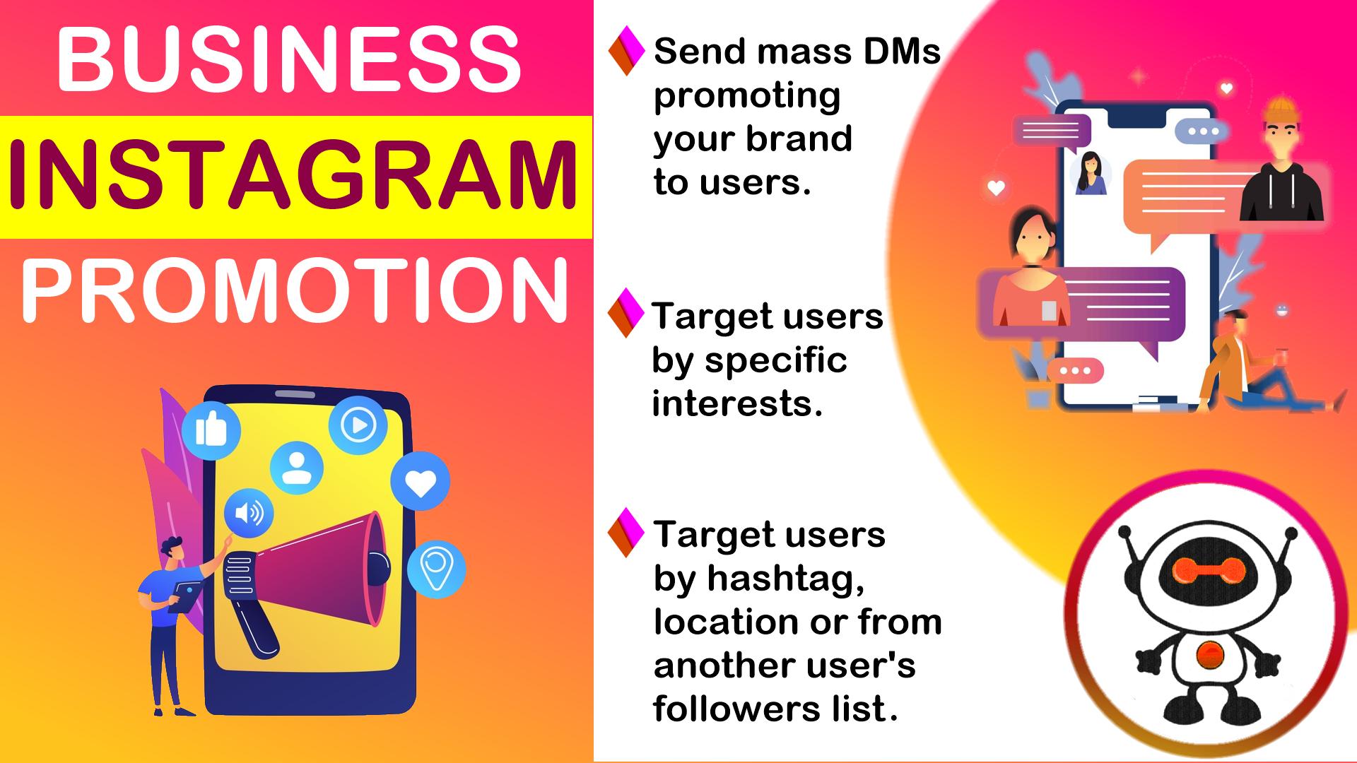 150 Unique Instgram DM promoting your business