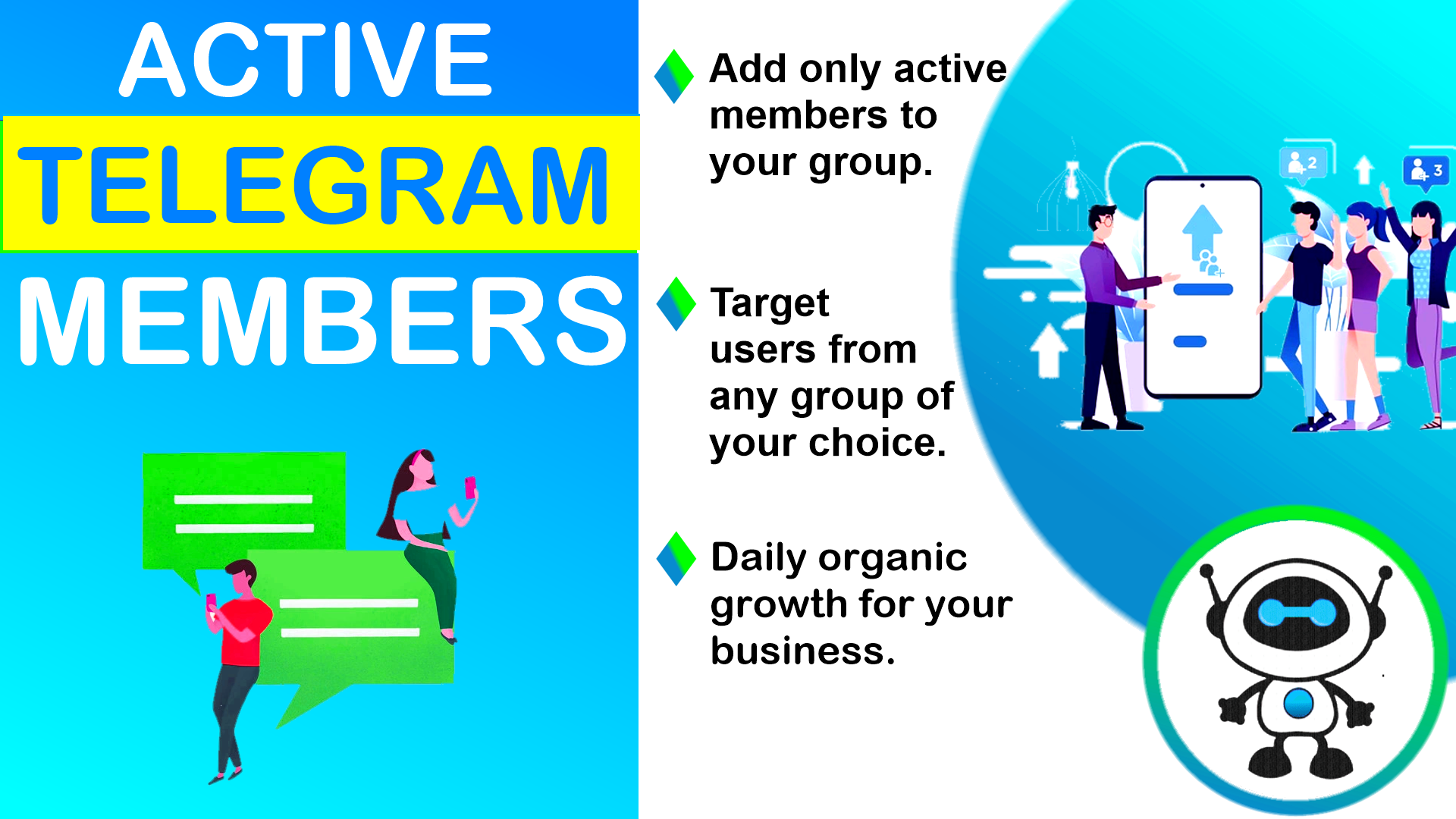 GROW your Telegram gr0up with online users from any targeted audience
