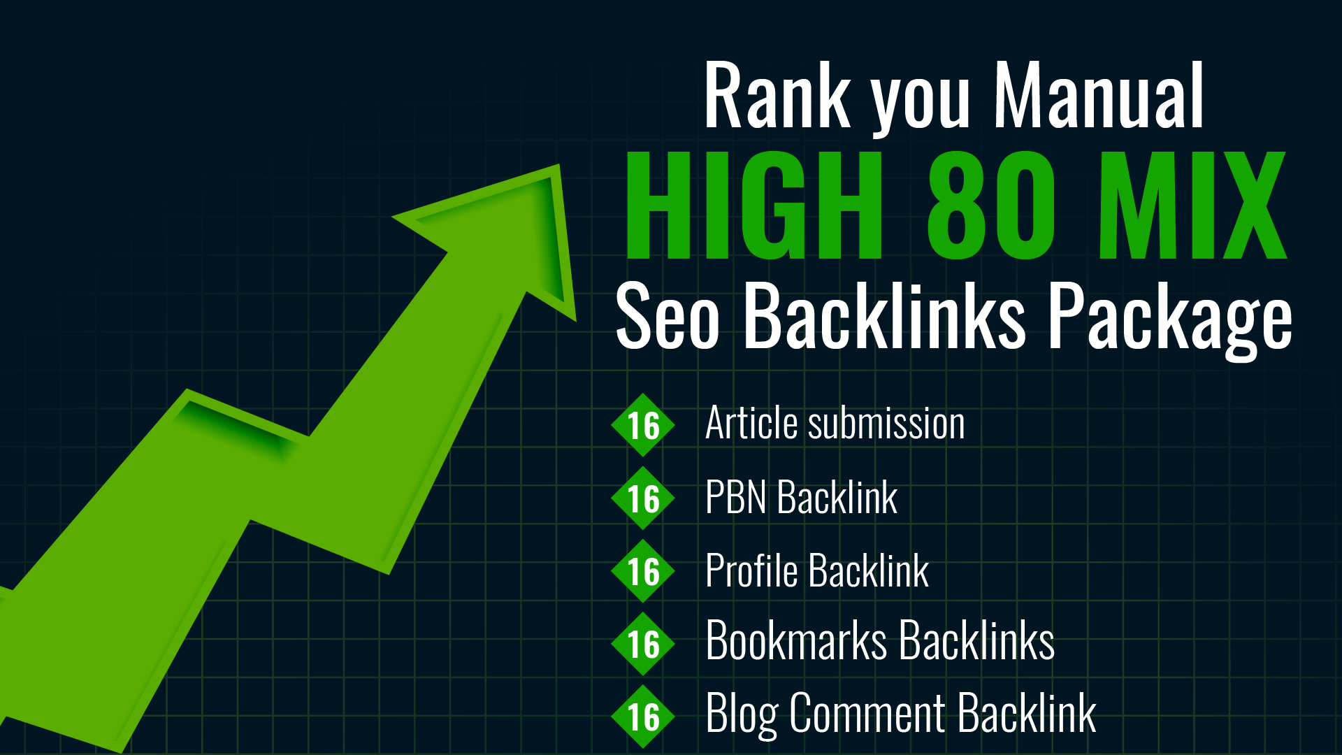 I will Rank you Manual high 80 Mix Seo Backlinks Package