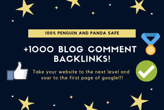 I will provide you 1000 High quality blog comment backlinks.