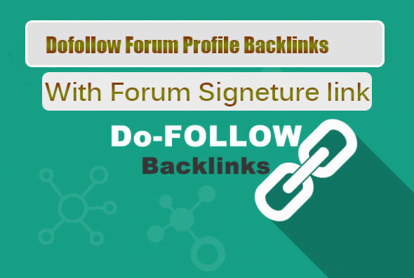 Best 100 Signature backlink from High PR forum