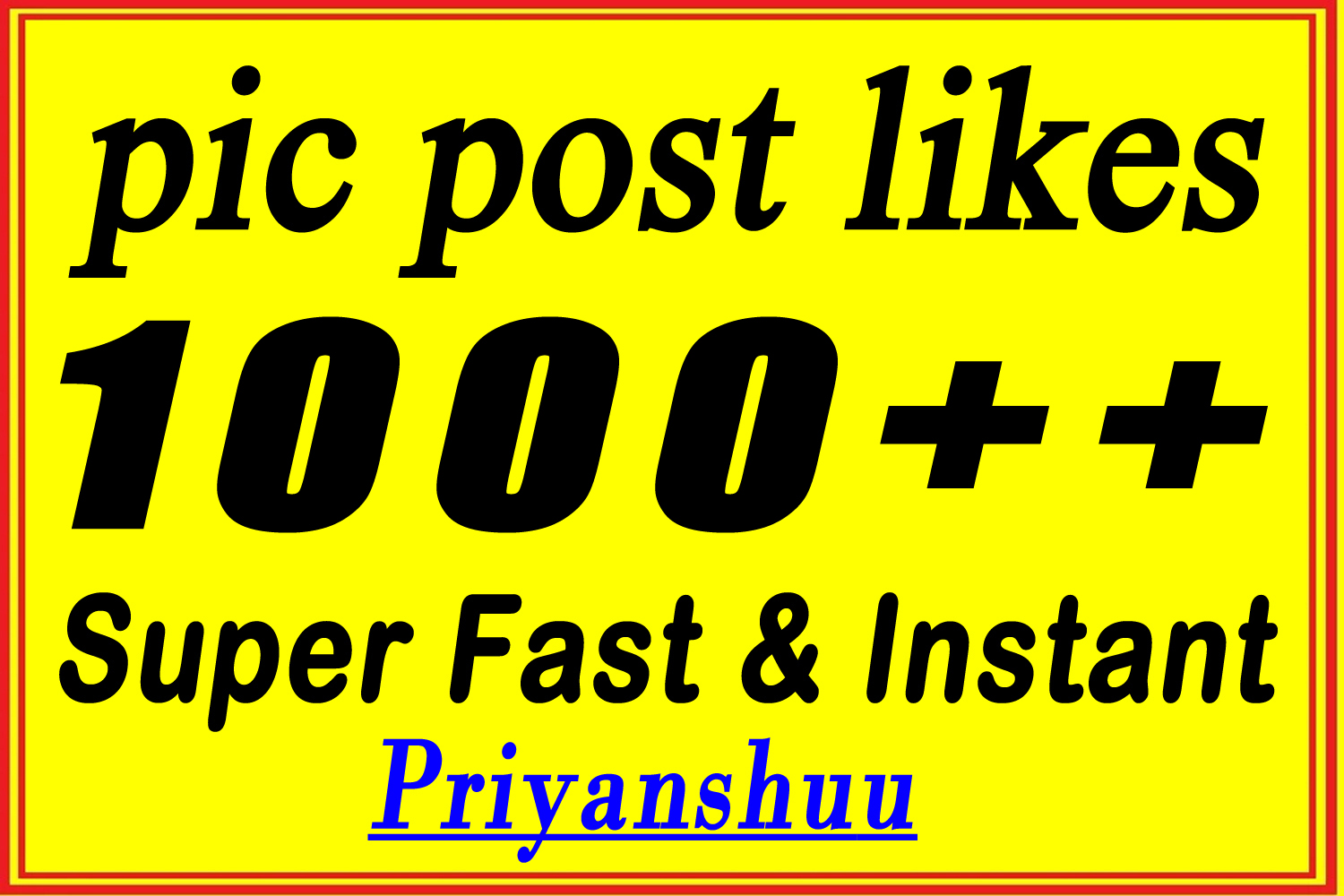 instant 1000+ picture post promotion marketing in 4 hours