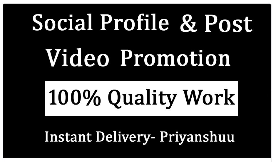 Social profile and Post Pic Video Promotion and Marketing in 6 hours