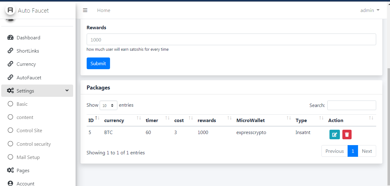 AutoFaucet Script Pay Via ExpressCrypto,walcrypto and faucetpay from hansal scropts