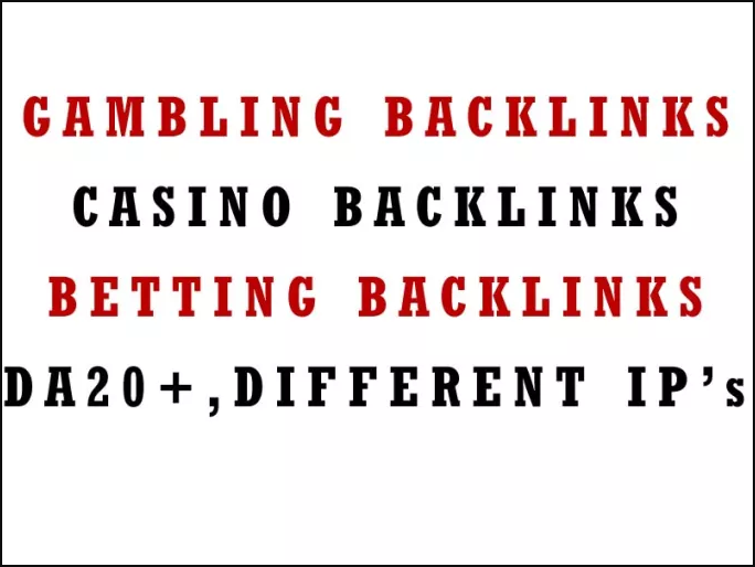 Gambling Backlinks and Casino/Betting blog posts - 100 Blog Posts