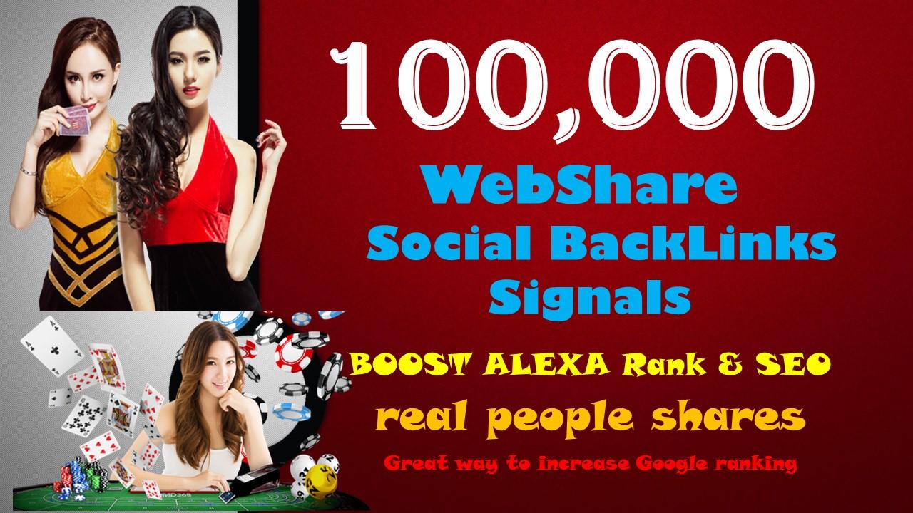 100,000 Signals Backlinks Agen Judi Bola Gambling Sites Improve Google 1st Page