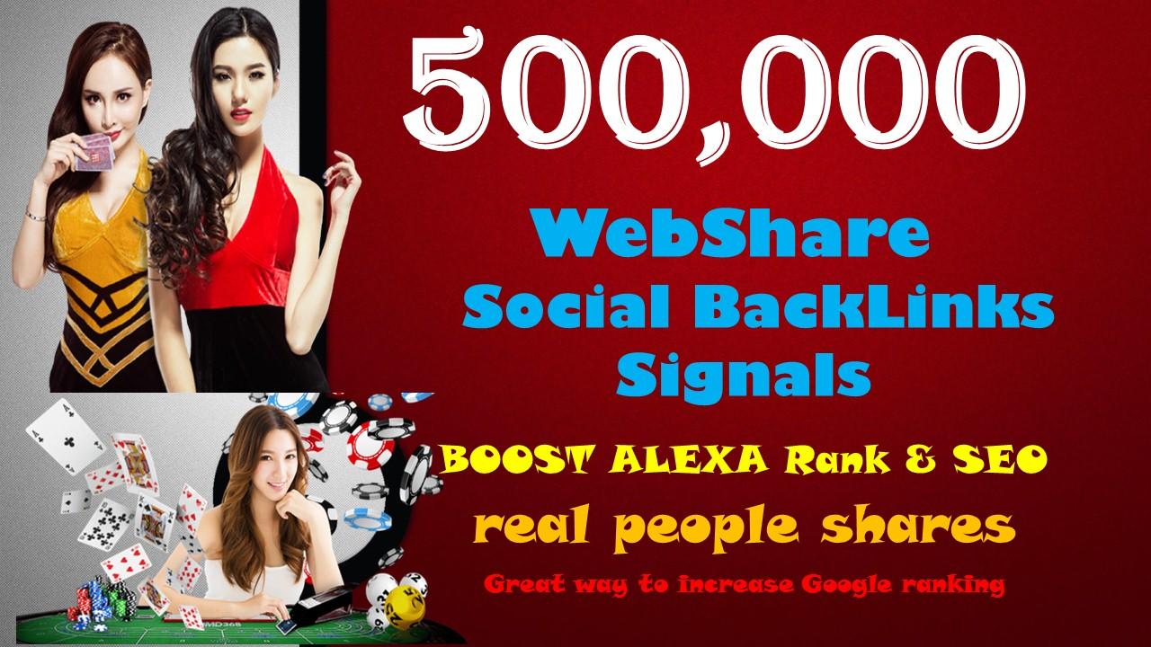500,000 Signals Backlinks Agen Judi Bola Gambling Sites Improve Google 1st Page