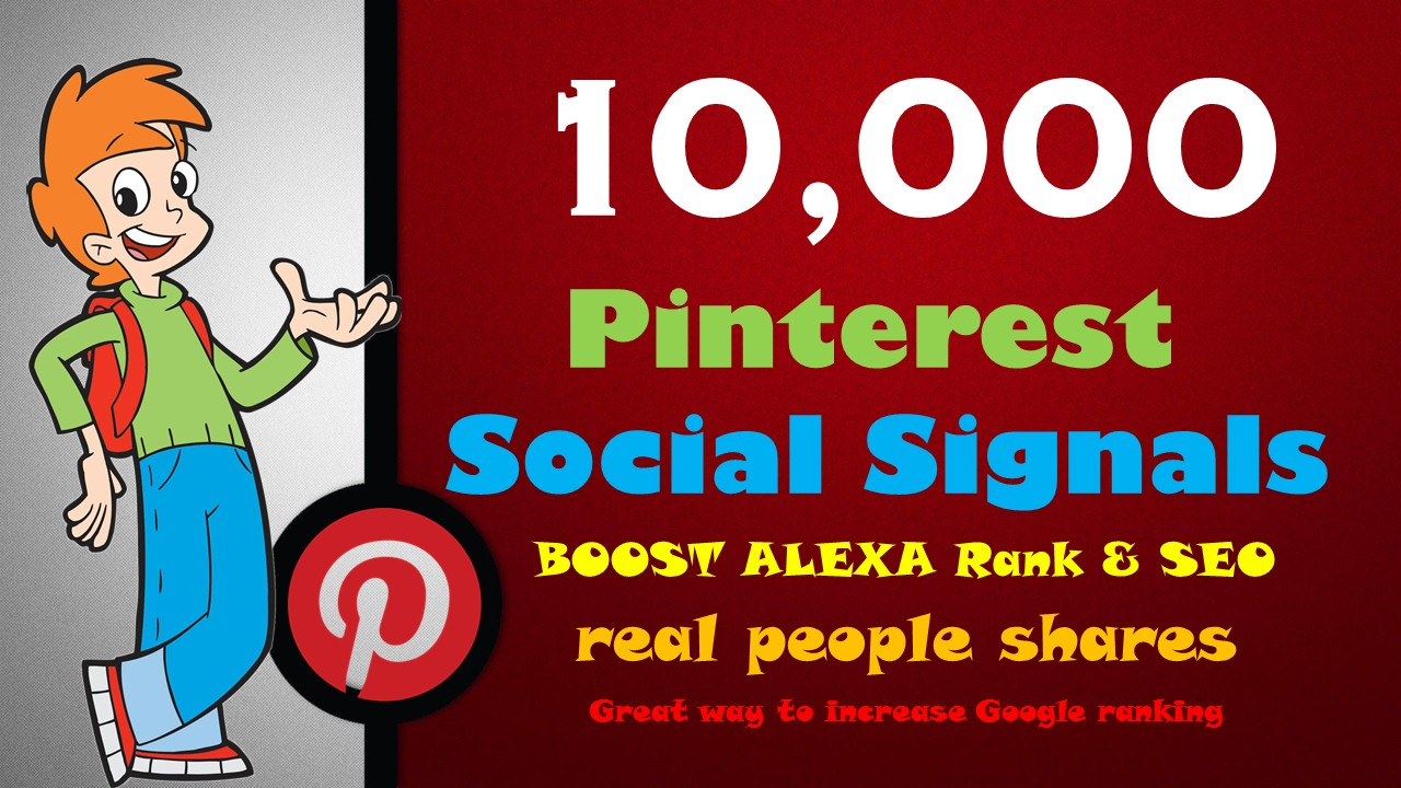 Quickly 10,000 PR9 Pinterest Repin Social Signals Backlink to Get More Traffic