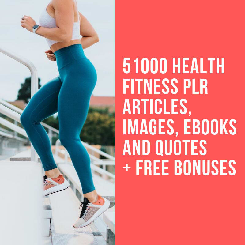 51000 health fitness, weight loss,  diet,  beauty plr articles with bonus