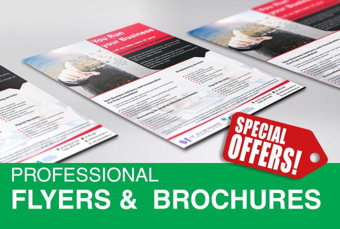 design a custom business flyer or poster