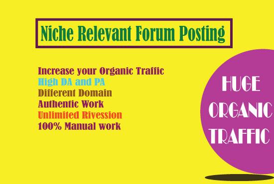 I can Create High DA 8 Niche relevant forum posting for your site