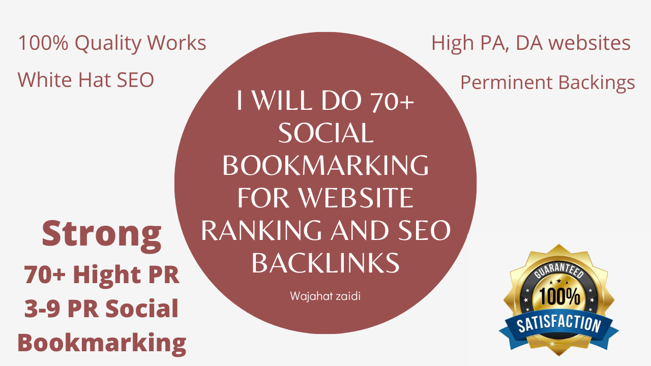 I Will Do 70+ Social Bookmarking For Website Ranking And SEO Backlinks