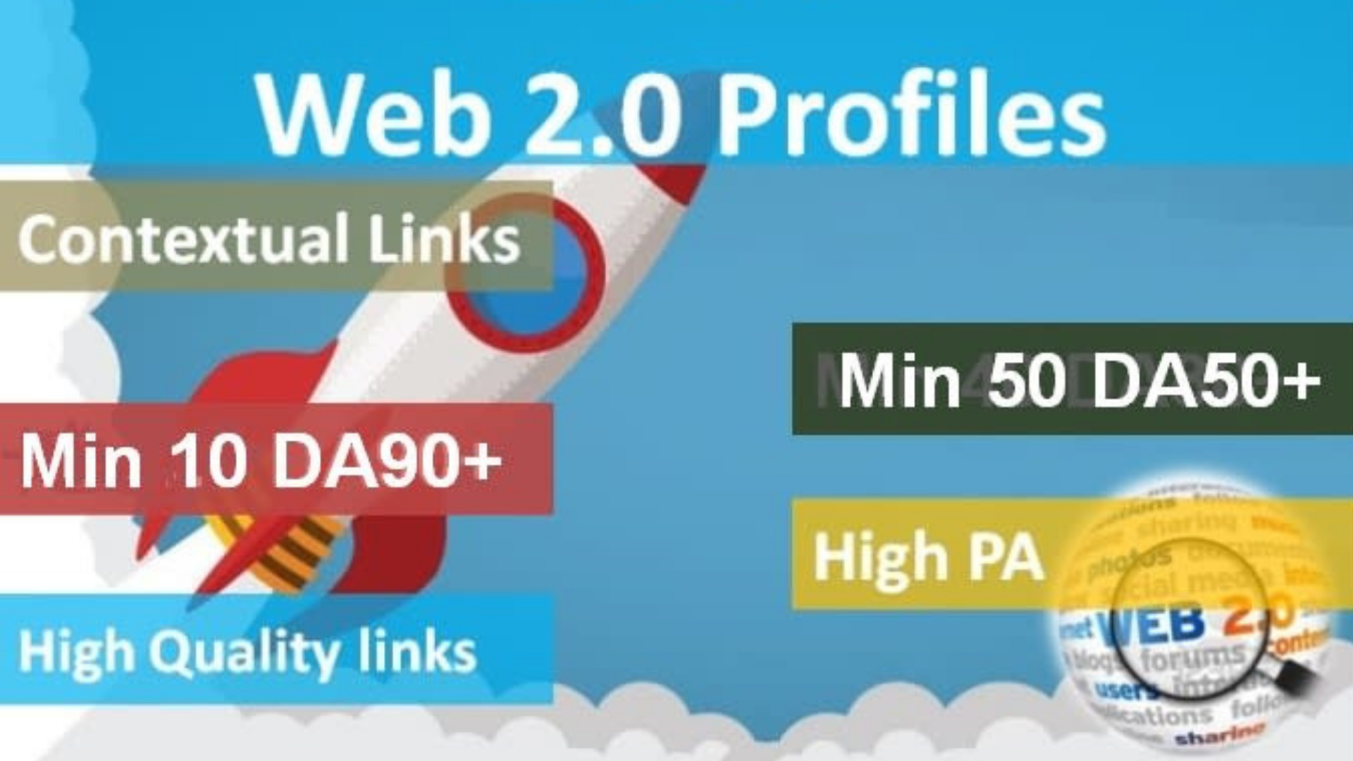 I Will Build 110+ Web 2 0 High Authority Profiles Backlinks Boost SEO Ranking