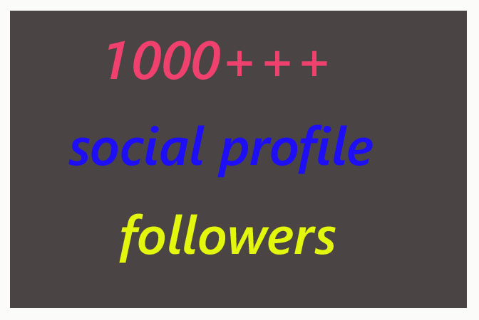 Instant 1000+ social profile followers in high quality