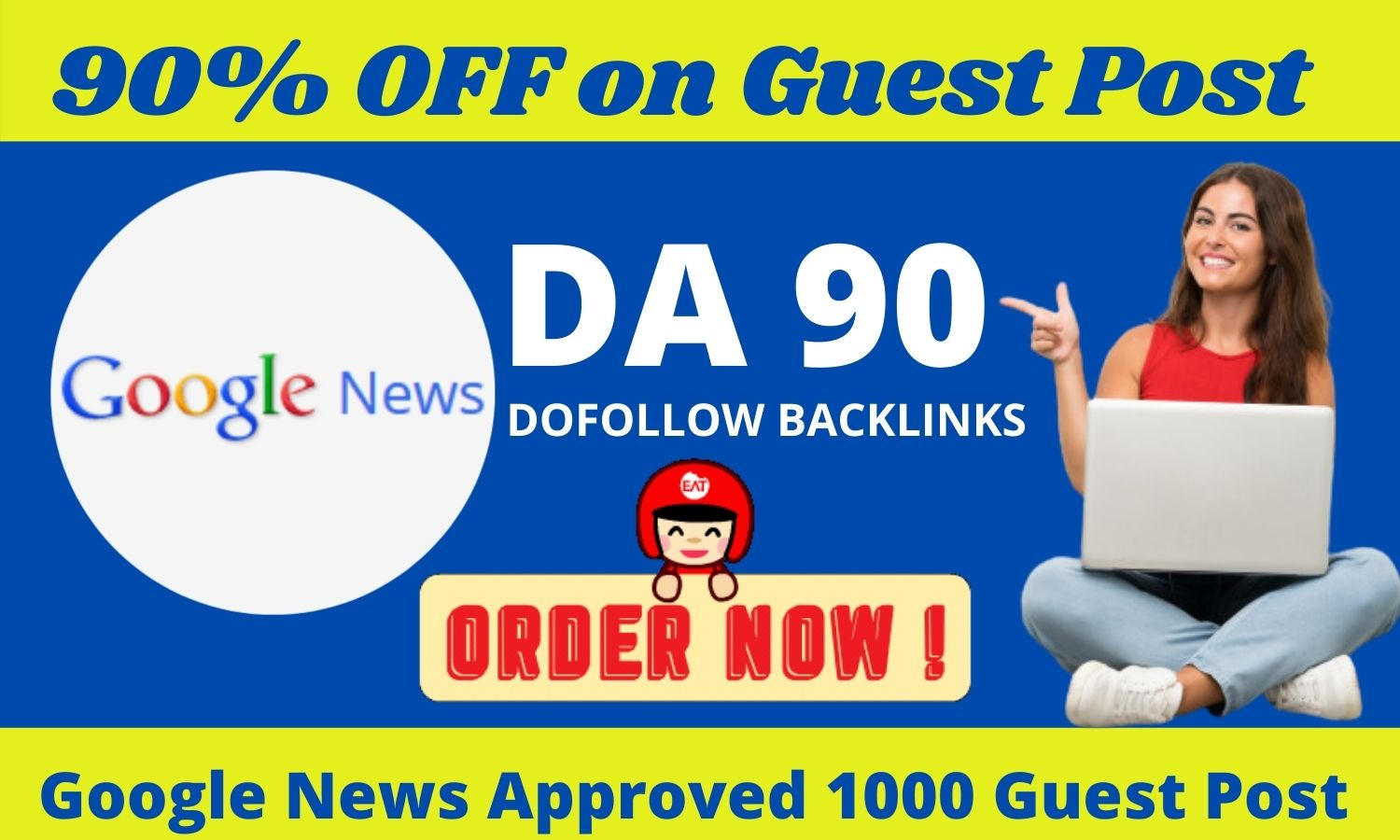 I will publish 50 guest post on high da 40 to da 90 google news blogger outreach
