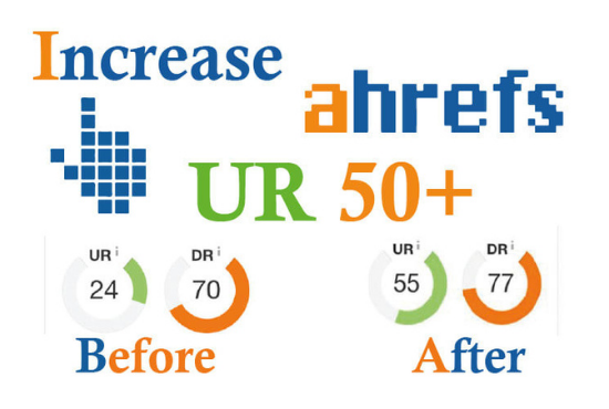 I will increase URL rating ahrefs URL 50 Plus gurantee