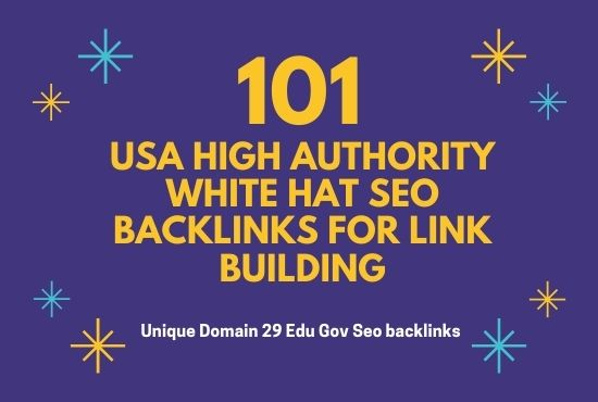 Do 101 USA High Authority White hat SEO Backlinks for Link Building