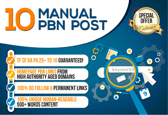 Make 10 Powerful Da Pa 10+ Dofollow PBN Backlinks