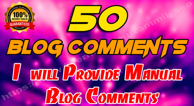 50 SEO blog comments backlinks