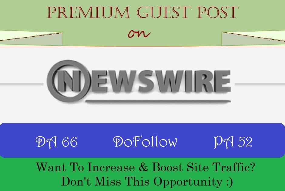 Publish a guest post on NewsWire. net DA60 PA54
