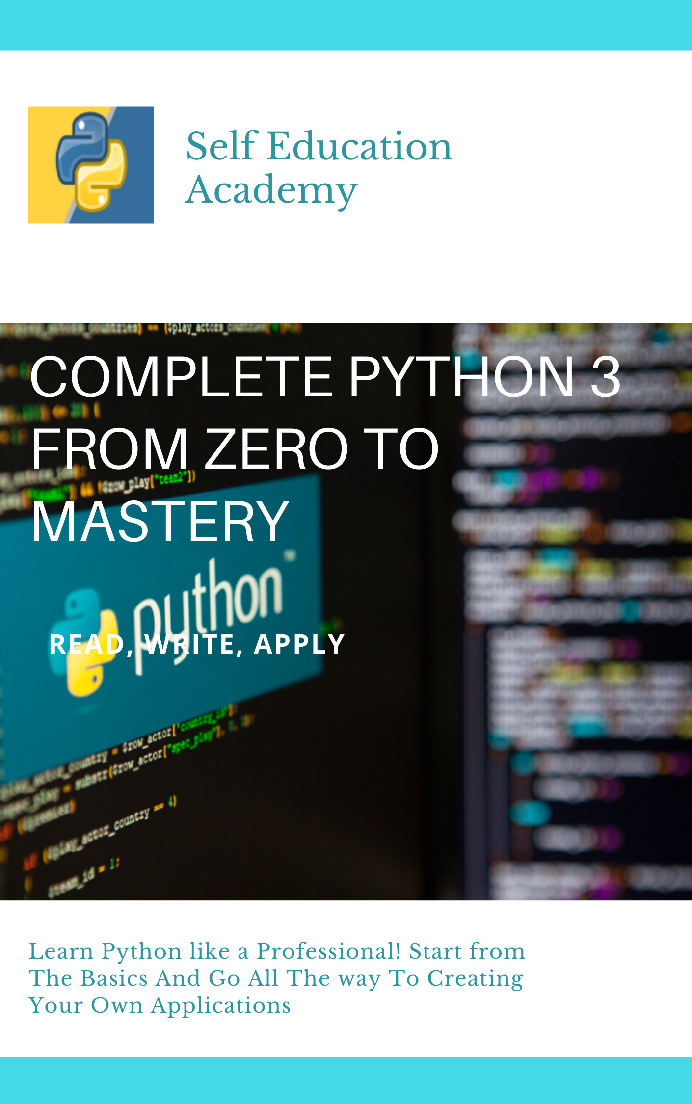 I will give you my book of complete python 3 from zero to mastery
