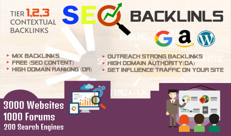 Perfect SEO Strategy 2020 - Backlinks Dofollow on 3000+ websites + 1000 forums +200 search engines