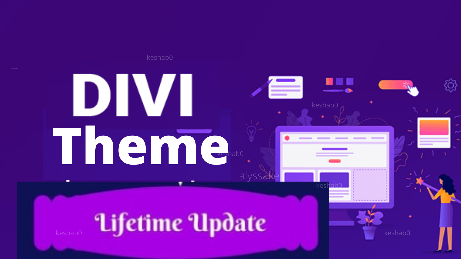 Install divi theme with lifetime updates
