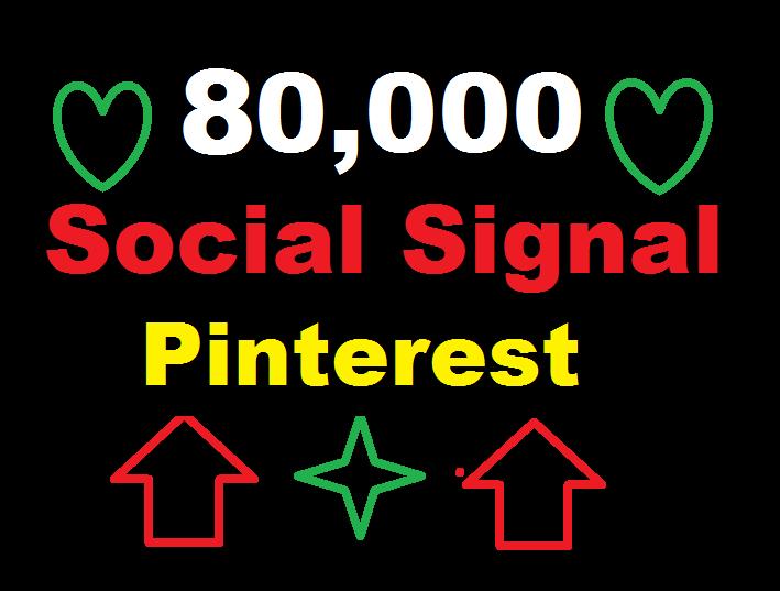 provide 80,000 Pinterest Social Signal Media Manually Share Marketing Seo Ranking Firs