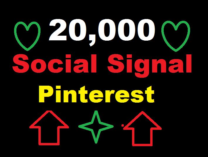 provide 20,000 Pinterest Social Signal Media Manually Share Marketing Seo Ranking Firs