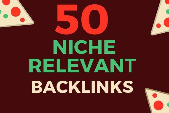 50 Niche Relevant High DA Manual SEO Backlinks