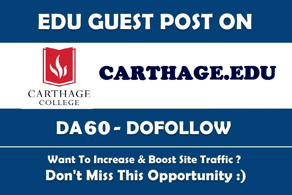 Guest post on Carthage. edu DA60 Edu Blog