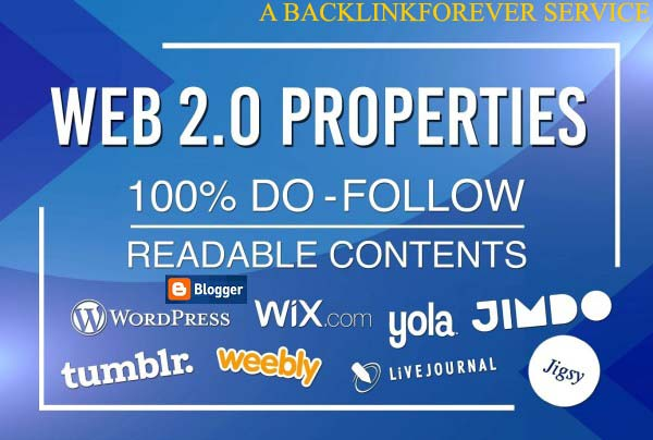 Get Manually Created 05 Web 2.0 Blogs Posting Service