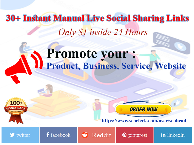 I will submit 30+ Manual instant Social Bookmarking link