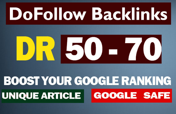 I will create DR 50 - 70 strong 20 backlinks for off page SEO
