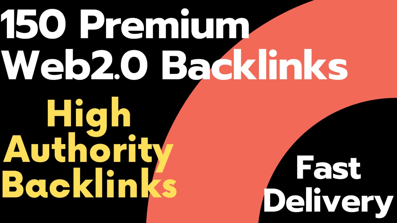 150 premium web 2.0 high authority backlinks