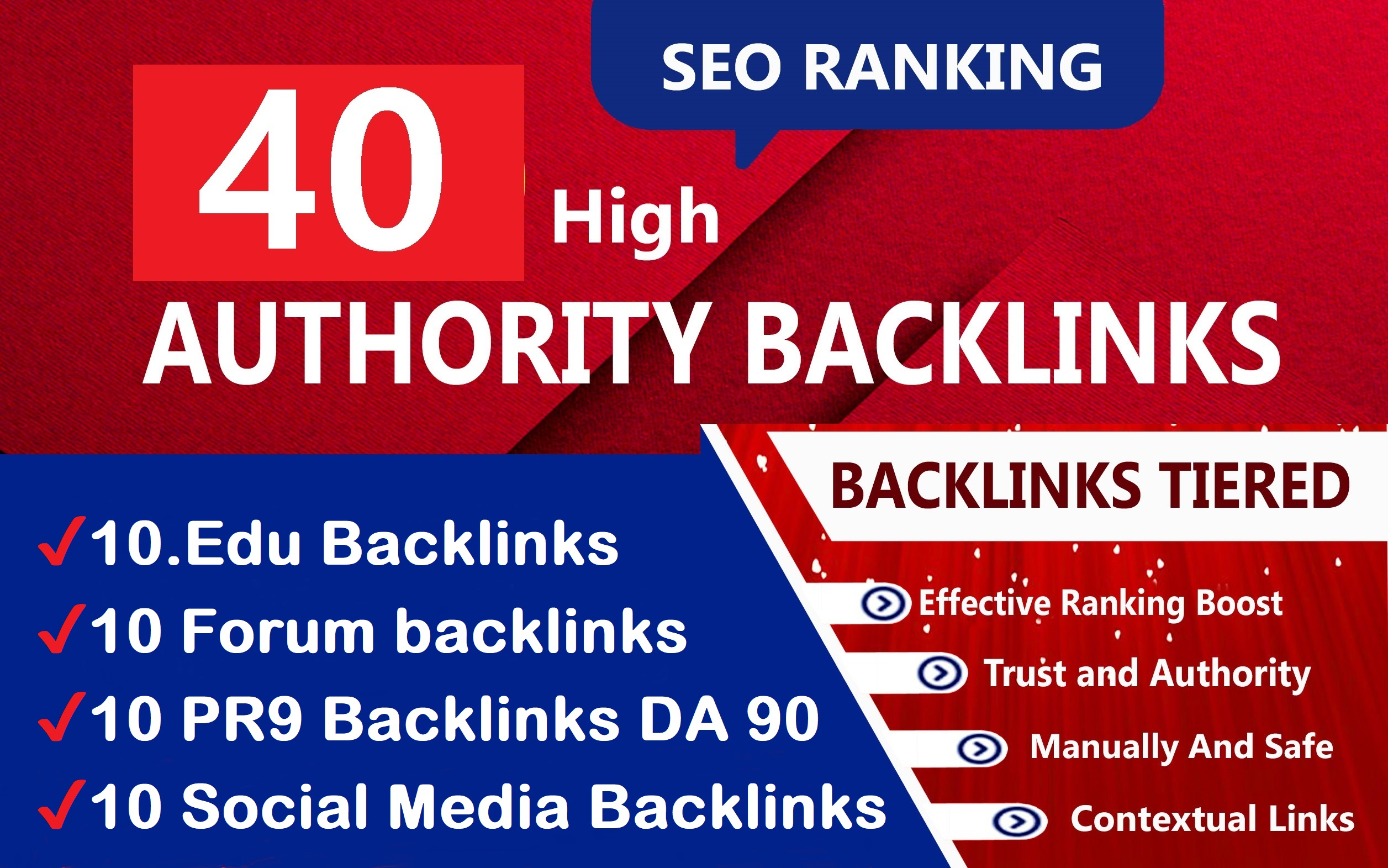 Manually Done 40 Unique Domains PR9 SEO Links Juice 100 DA Site For Increase RANKING
