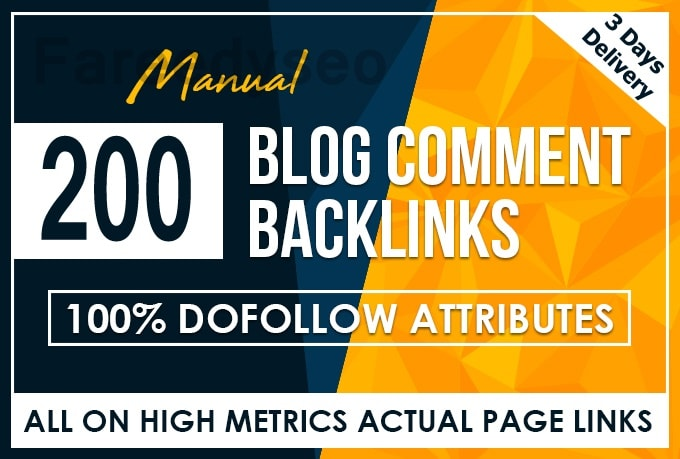 I will do 200 high quality dofollow blog comments From Unique Site backlinks