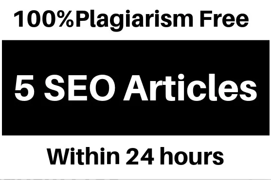 5 Articles 500 Words each SEO friendly Copyscape Pass 24 HRS