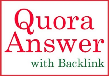 10 Niche Relevant Quora Answer with Do follow Backlink