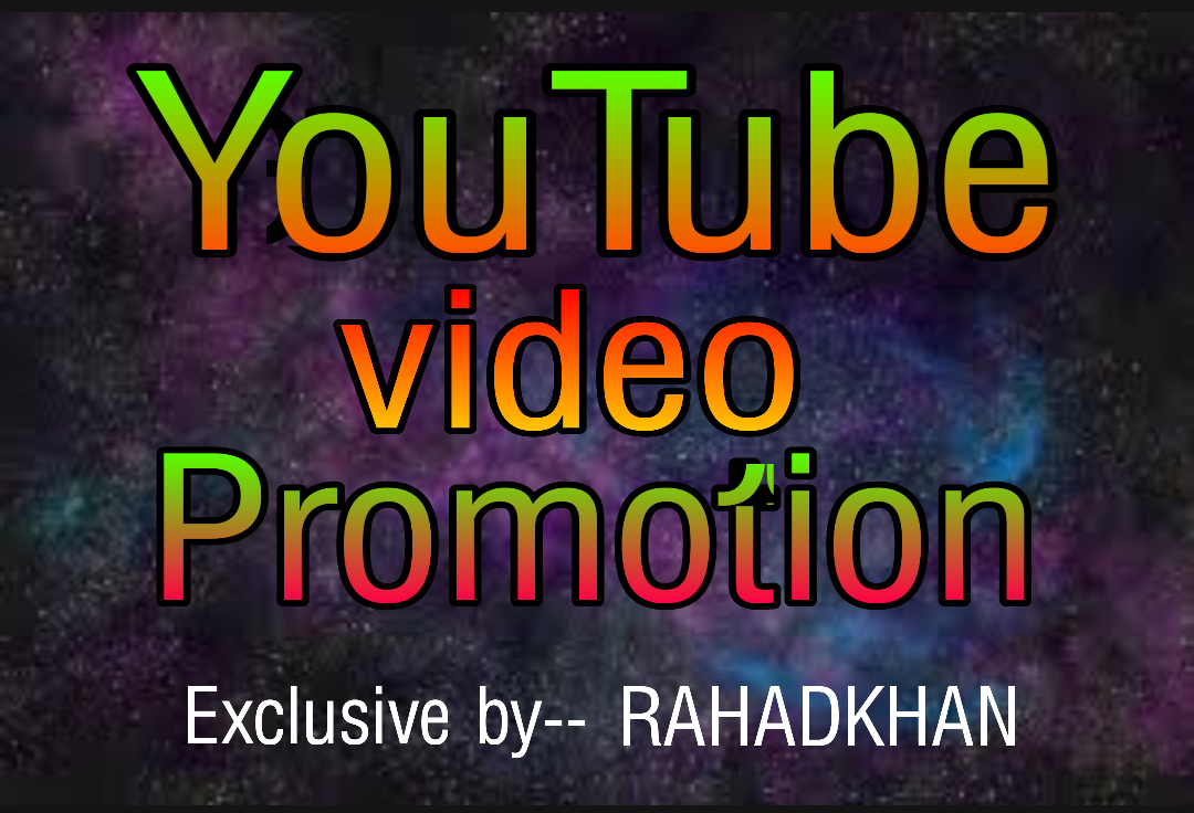 Get you Youtube video promotion original instant delivery
