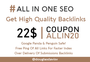 UNBELIEVABLE BACKLINK PACKAGE -RANK 1 on GOOGLE