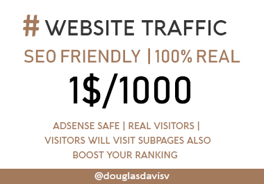1000 Real SEO friendly Country targeted Website Traffic - Adsense safe