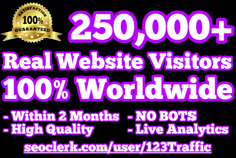 500,000 Real Human Website Traffic