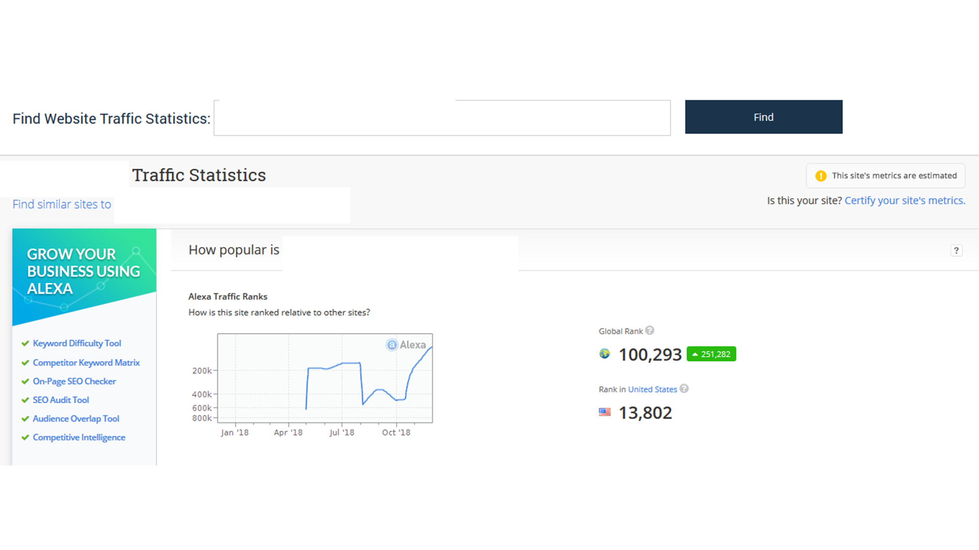 Increase USA alexa rank under 99k with web traffic