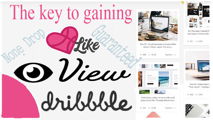 Add 200 dribbble likes views with some followers for shots