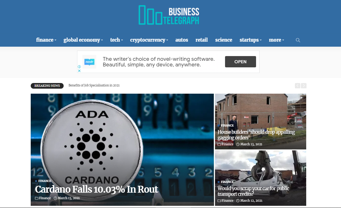 Guest Post On Businesstelegraph. co. uk DA45 With Dofollow and Indexed Link