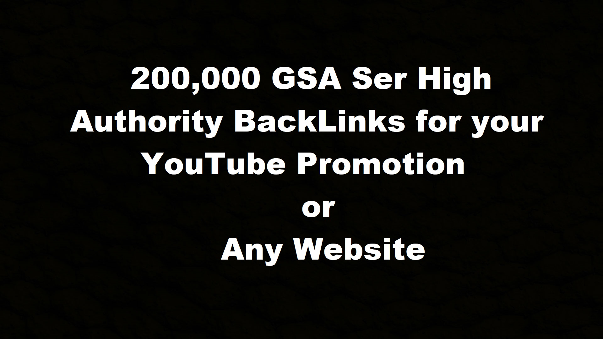 provide 200K GSA ser Authority Backlinks for link Juice,  Ultimate SEO